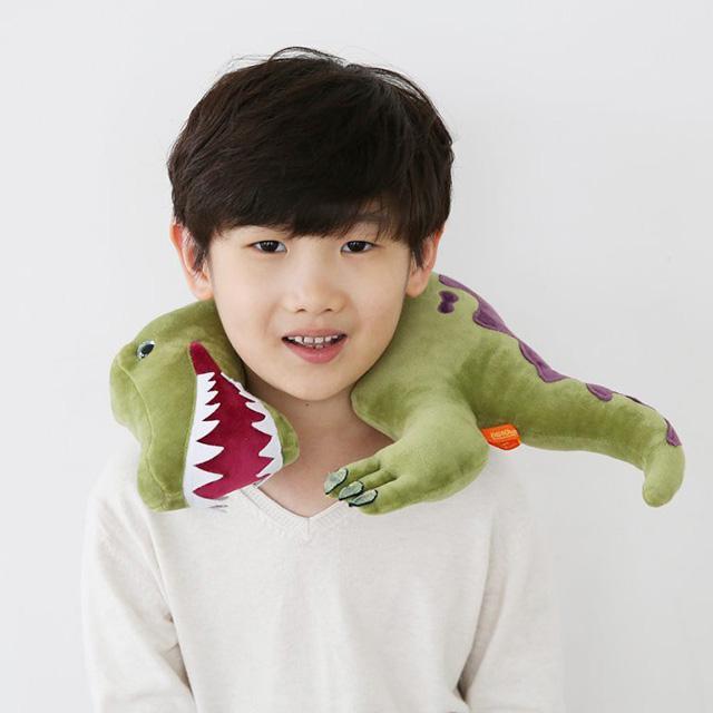 韓國 恐龍造型枕-綠色棘龍