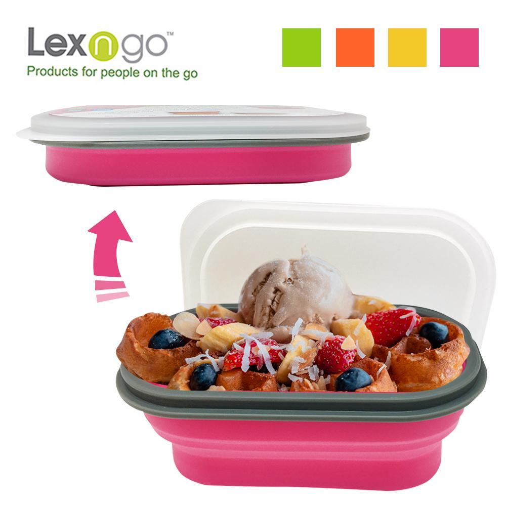Lexngo可折疊快餐盒中