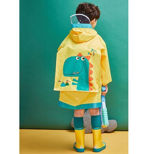 韓國品牌-lemonkid 牛津布造型雨衣-黃色恐龍