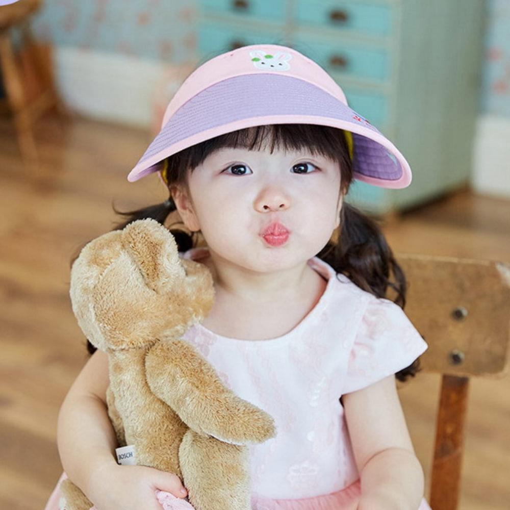 韓國lemonkid 半空帽-紫色兔