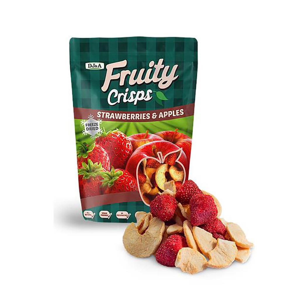DJ&A澳洲果乾-夏季-草莓&蘋果脆片25g