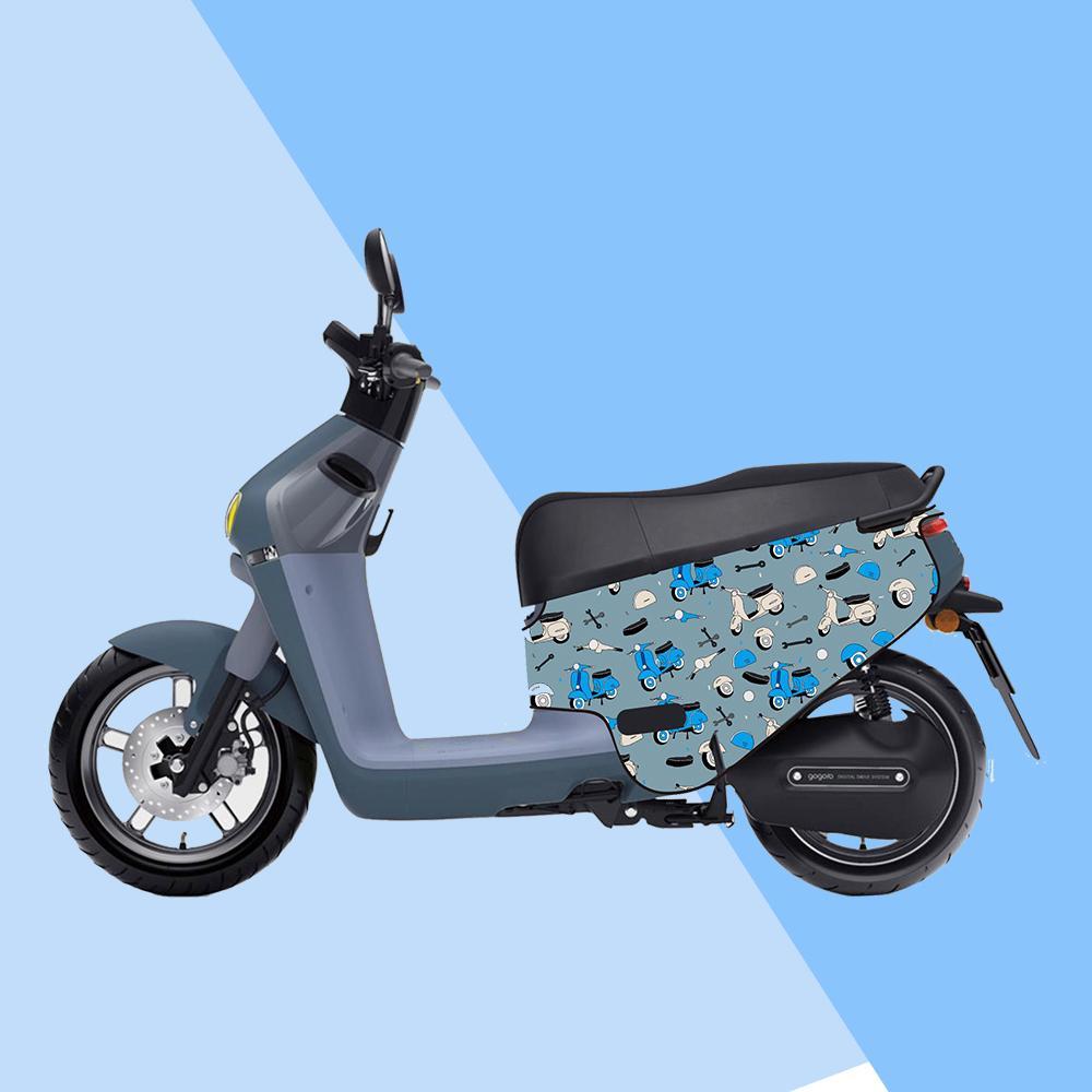 gogoro防刮車套-iD8 交通工具藍