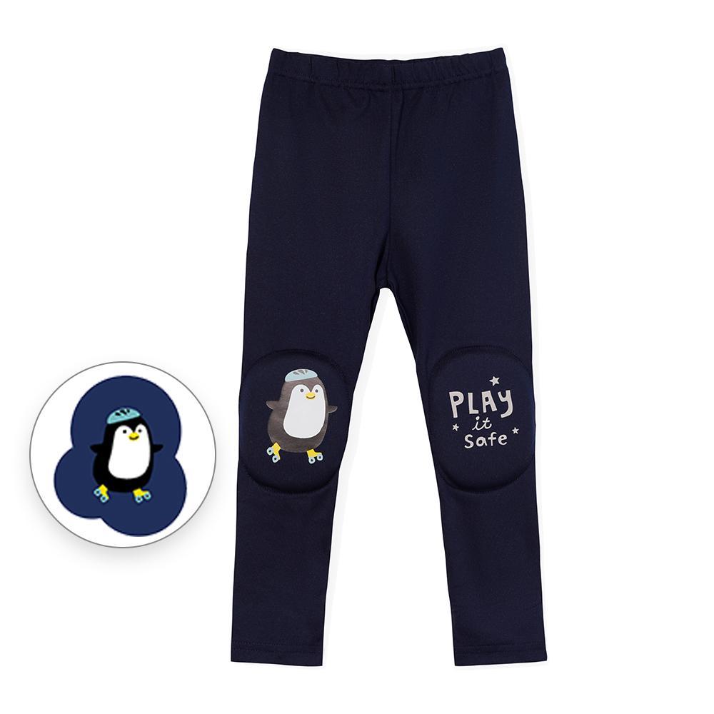 韓國 OZKIZ 護膝彈力緊身褲-海軍藍
