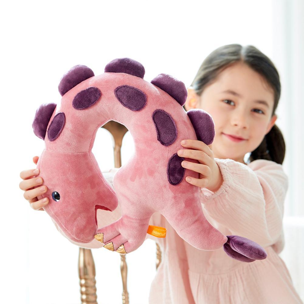 韓國 恐龍造型枕-粉色甲龍