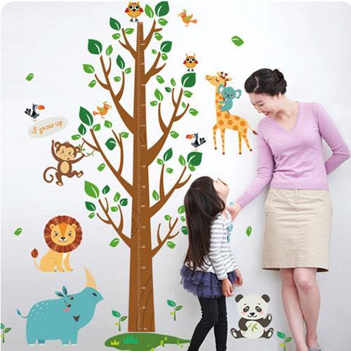 JB Design時尚壁貼~森林王國大樹身高貼