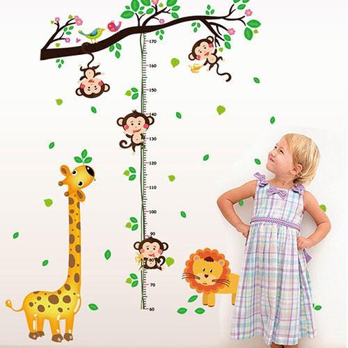 JB Design時尚壁貼~猴子爬樹身高貼