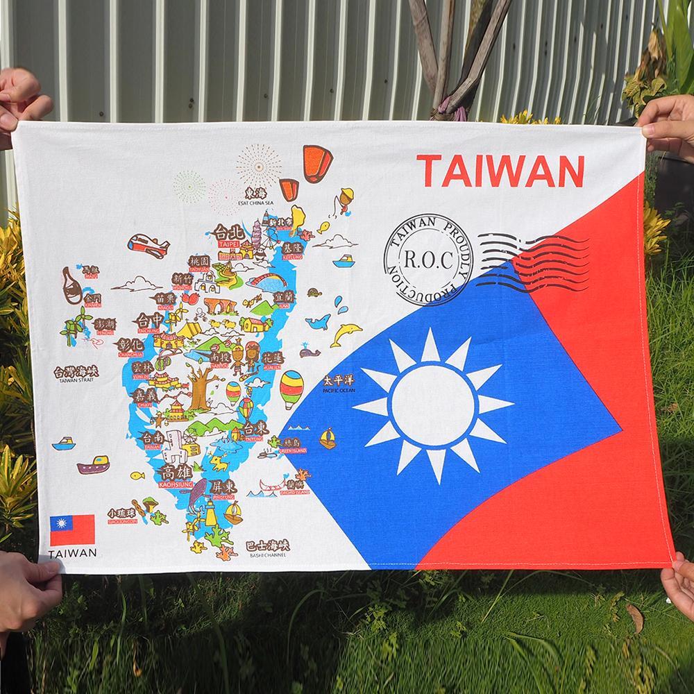 JB DESIGN-台灣文創布地圖-愛國款