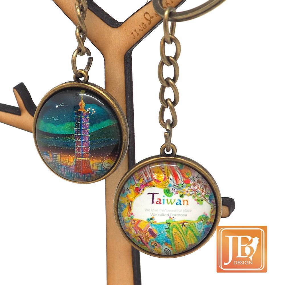 JB Design-文創玻璃鑰匙圈-台北夜晚