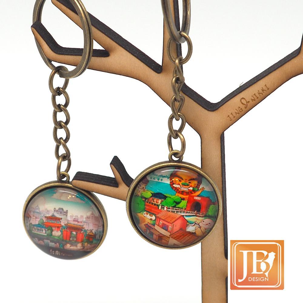 JB Design-文創玻璃鑰匙圈-台南古都