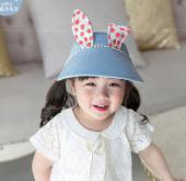 韓國lemonkid 半空帽-藍色兔耳