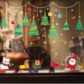 時尚壁貼-聖誕樹吊飾 HM92036ds