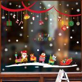 時尚壁貼-聖誕火車繽紛吊飾 HM92042ds