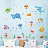 時尚壁貼 -歡樂海洋世界
