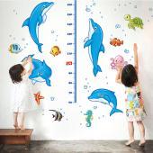 時尚壁貼 -海豚身高貼