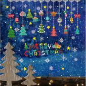 時尚壁貼-彩色聖誕吊飾 AMJ903