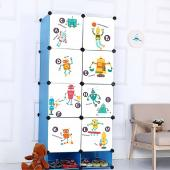時尚壁貼-卡通機器人字母HM94006