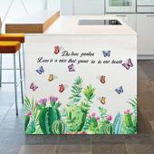 時尚壁貼 -蝴蝶仙人掌