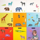 時尚壁貼 -北歐風動物樂園