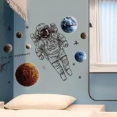 時尚壁貼-太空探索XL8335