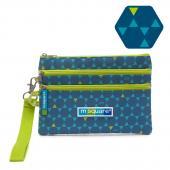 m-square商旅系列Ⅱ三層小物收納包(藍色六角紋)