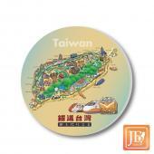 JB Design_陶瓷吸水杯墊-660_鐵道台灣