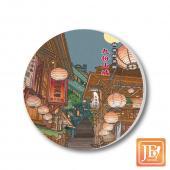 JB Design_陶瓷吸水杯墊-543_九份山城