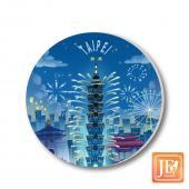 JB Design_陶瓷吸水杯墊-771_台北天燈