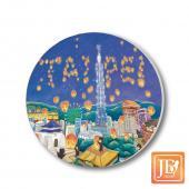 JB Design_陶瓷吸水杯墊-779台北熊天燈