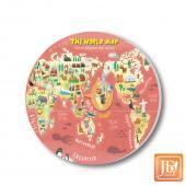 JB Design_陶瓷吸水杯墊-790-世界地圖