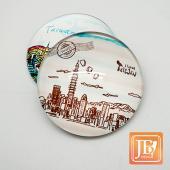JB Design-玻璃磁鐵-646_手繪台北景