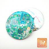 JB Design-玻璃磁鐵-672_北台灣地圖