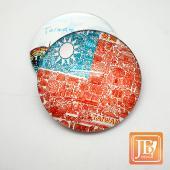 JB Design-玻璃磁鐵-729_國旗插畫