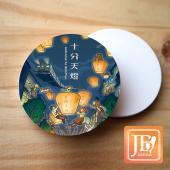 JB Design_圓杯墊磁鐵-557_飛翔天燈