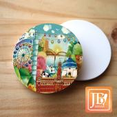 JB Design_圓杯墊磁鐵-107_台北天空