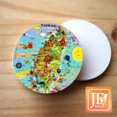 JB Design_圓杯墊磁鐵-125_歡樂台灣島