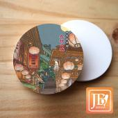 JB Design_圓杯墊磁鐵-543_九份山城