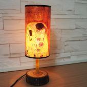 JB Design-文創樟木圓筒桌燈-吻