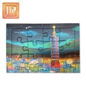 JB Design拼圖明信片_台北夜晚
