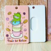 傻笑鱷魚-票卡鑰匙圈-午茶時光