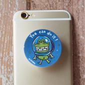 傻笑鱷魚-摺疊手機架-宇宙鱷魚