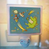 傻笑鱷魚-迷你小夜燈-宇宙星球