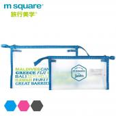 m square 字母防水PVC化妝包 L