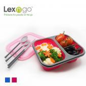 Lexngo分隔折疊餐盒餐具組