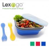Lexngo 矽膠蓋可摺疊餐盒(中)
