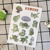 JB DESIGN台灣文創防水無痕貼紙-海龜款