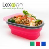 Lexngo 矽膠蓋可摺疊餐盒(小)