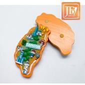 JB Design台灣波麗磁鐵-JB097-快樂台灣島