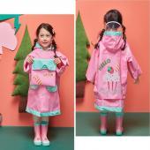 韓國品牌-lemonkid 牛津布造型雨衣-粉色蛋糕