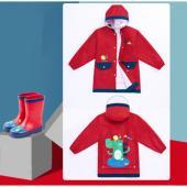 韓國品牌-lemonkid 牛津布造型雨衣-紅色鱷魚