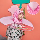 韓國lemonkid 飛碟雨衣-粉色兔子